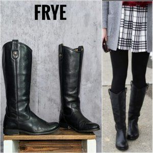 Frye Melissa Button tall boots black size 8